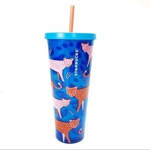 Starbucks Cheetah Venti Tumbler Summer Cold Cup